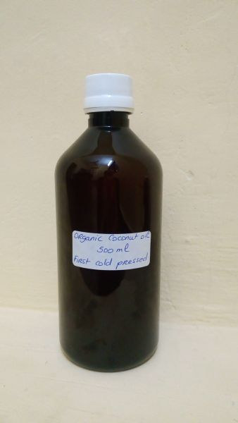 <b>EXTRA VIRGIN COCONUT OIL</b><br>GRAMIYUM - ORGANIC CULTIVATION<br>COLD PRESSED<BR>Bottle of 500 ml